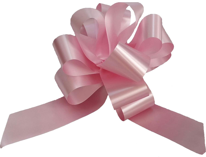 Brizzolari Confezione da 50 COCCARDE Rosa 5 CM Maxi AUTOTIRANTI Nascita Battesimo Decoro