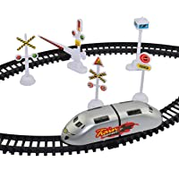 SILVERLIGHT™ Battery Operated High-Speed Bullet Train Toy Set Game with Signals and Track for Kids