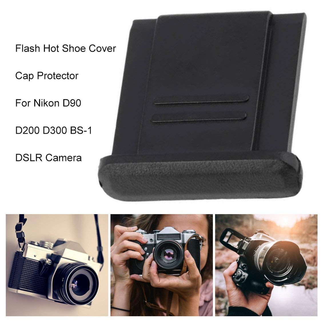 Flash Hot Shoe Cover Cap Protector para Nikon D90 D200 D300 BS-1 ...