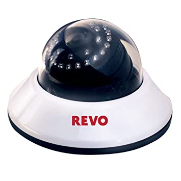 61XrhKSLvCL._SY355_ amazon com revo america rcds30 2a 660 tvl indoor dome camera revo security camera wiring diagram at n-0.co