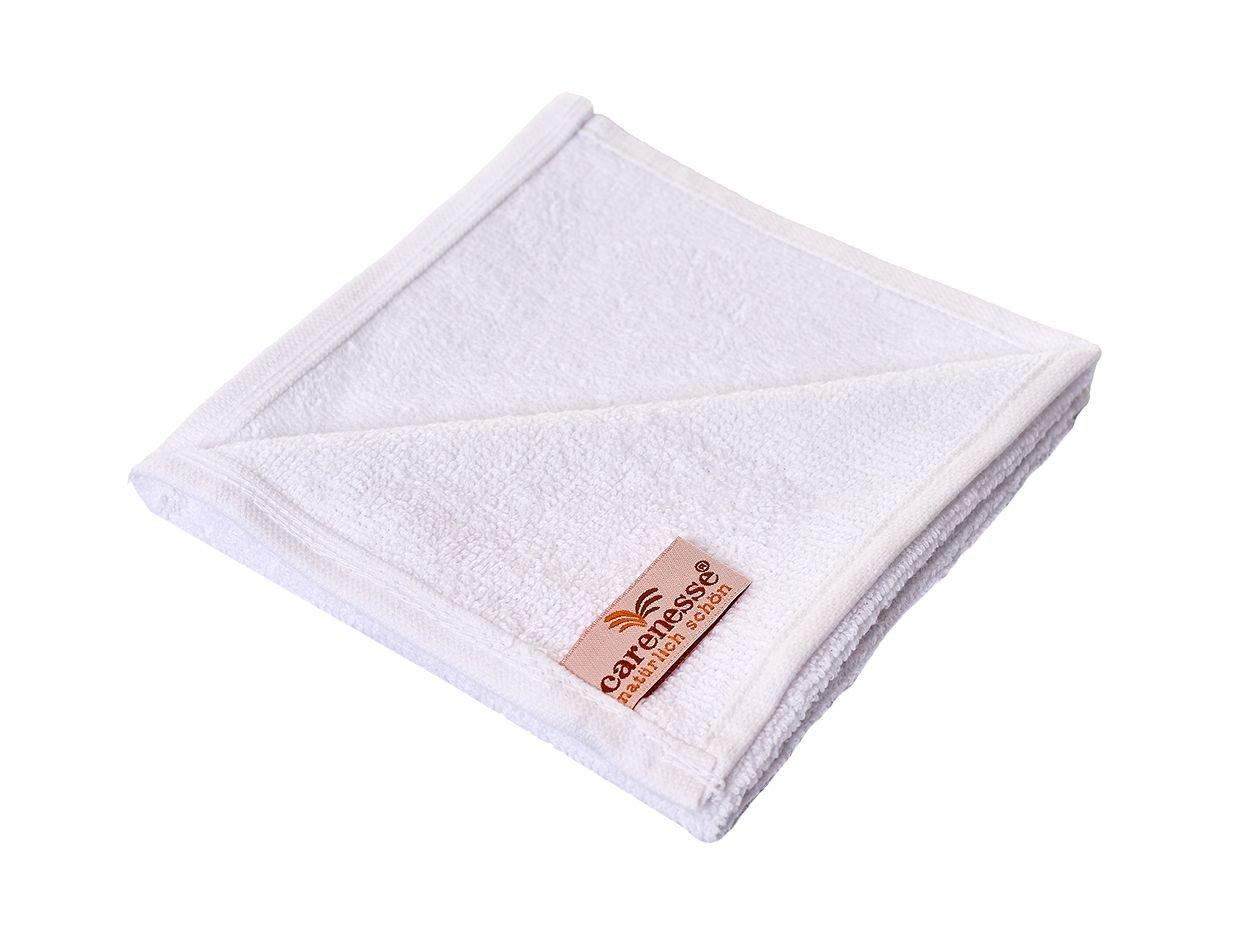 qualit/à premium guanto da bagno Carenesse Set Salvietta da 6 bianco 30 x 30 cm 100/% cotone