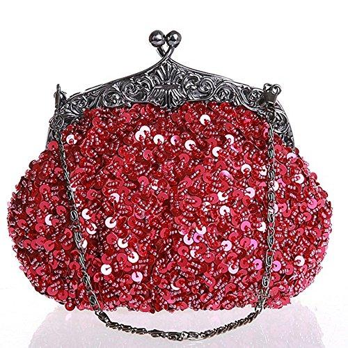 Eysee - Cartera de mano para mujer rojo morado 19cm*16cm*5cm rojo vino