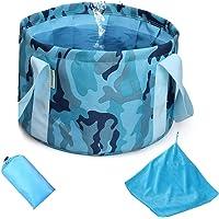 Folding Water Bucket + Absorbent towel, Travel Foot Bath Tub, Nylon Folding Travel Foot Bath Bucket, Multifunctional…