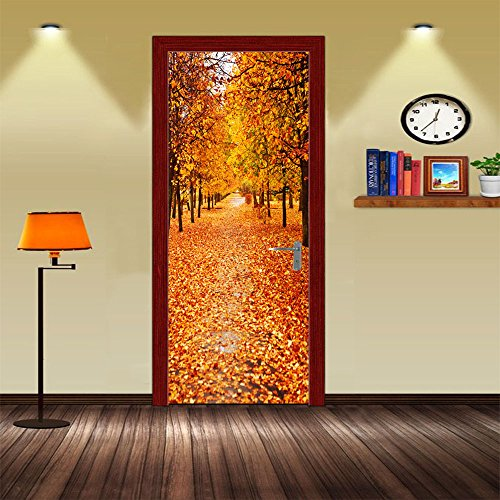 LWCX Autumn Bedroom Door Stickers Stickers Creative Self Adhesive Waterproof Paint Customization by LWCX