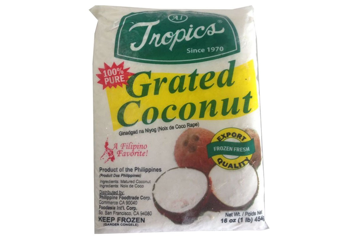 Frozen Grated Coconut - 16oz (Pack of 6) by Tropics (Image #1)
