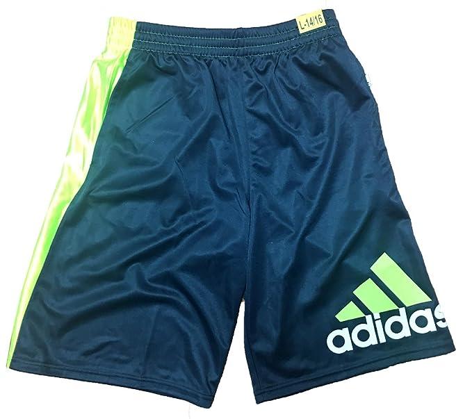 adidas de Baloncesto Athletic Pantalones Cortos, Negro/Rojo ...