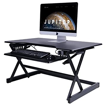 sports shoes 4f78b 7c42d QJJML Stand-Up Computer Desk - Raised And Lowered To Various ...
