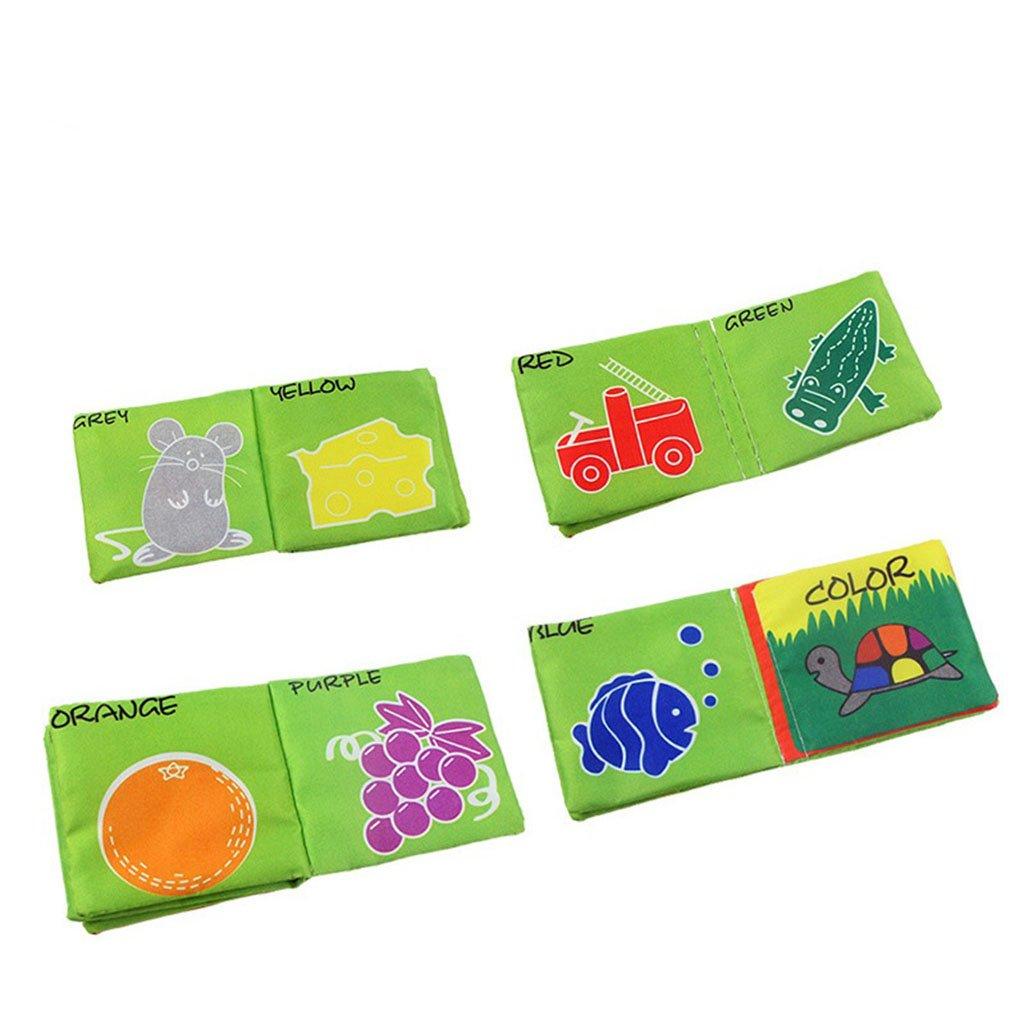 Baoblaze Livre Tissu Livre de Connaissance Jouet Educatif Sonore pour Bébé Enfant--11 * 10cm - #2