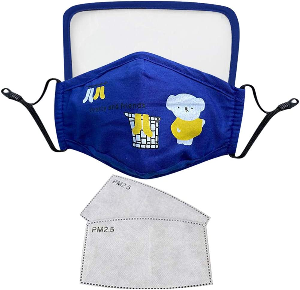 Kids/' Protective Dustproof Outdoor Cotton Face Mask Integrated With Goggles Mask