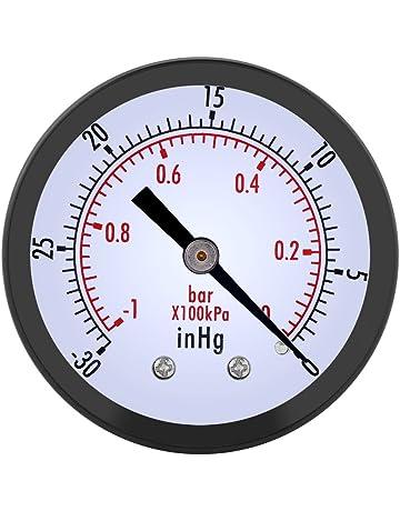 0 ~ -30inHg 0 ~ -1bar Manómetro de presión de vacío 50mm Marque el