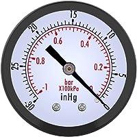 """Aramox Vacuüm manometer, 50 mm 1/4 """"BSPT schroefdraad mini Dial Air vacuüm manometer meter manometer voor water lucht…"""