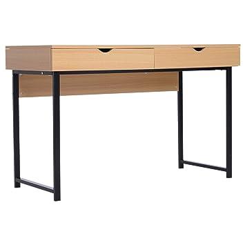 Amazon De Homcom Schreibtisch Pc Tisch Burotisch