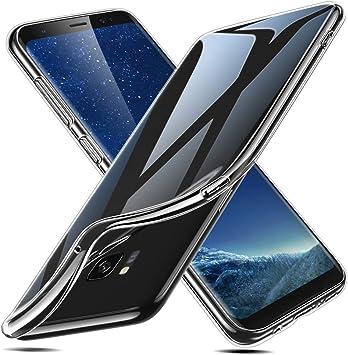 ESR Funda para Samsung Galaxy S8, Funda Transparente Suave TPU Gel [Ultra Fina] [Protección a Bordes y Cámara] [Compatible con Carga Inalámbrica] Compatible Samsung Galaxy S8: Amazon.es: Electrónica