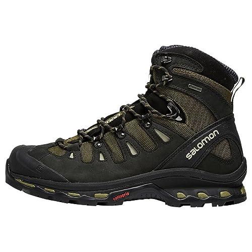 Salomon Campside Mid GTX Mens Hiking Boots Shoes Grey ZUI1YZ6BU