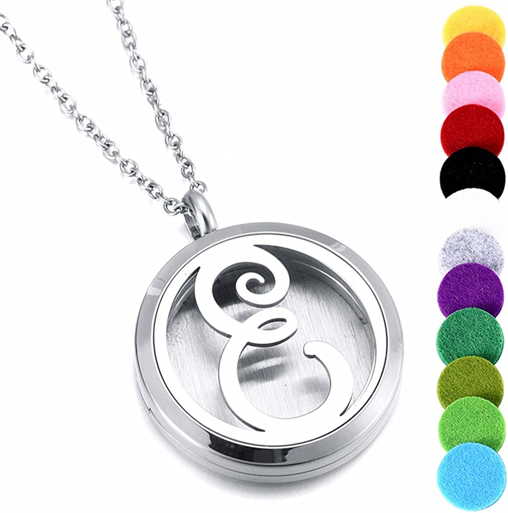 memorial jewelry Women's Locket Necklace Perfume Fragrance Essential Oil Aromatherapy Diffuser