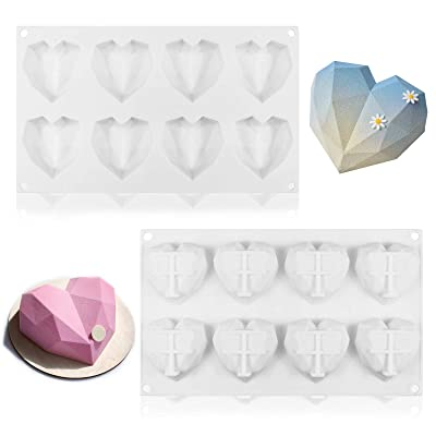 4 Cavities Baking Popsicle Molds,50 Wooden Sticks with Silicone Letter Mold and 2 Pieces Number//Letter Chocolate Molds 8 Cup Diamond Heart Molds,Silicone Popsicle Molds oval Ice Pop