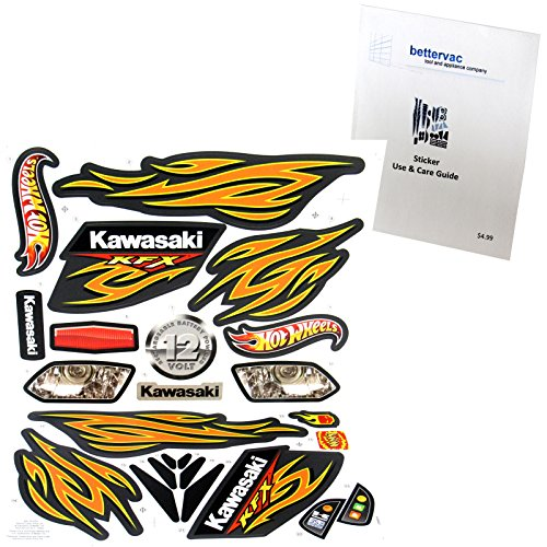 Power Wheels W4716 Kawasaki Hot Wheels KFX Decal Sheet #W4716-0321 Bundled With Use & Care Guide
