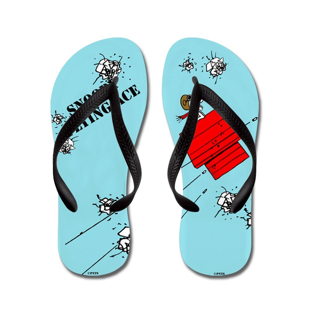 60a78bd7d62 CafePress - Snoopy The Flying Ace - Flip Flops