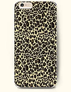 Case For Iphone 4/4S Cover with Design of Black And Brown Leopard Stripe In Light Yellow BackgrouAnimal Print -OOFIT Authentic