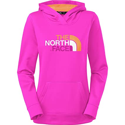 8455eb840 The North Face Fave Pullover Hoodie Womens Luminous Pink/Impact Orange  Multi L