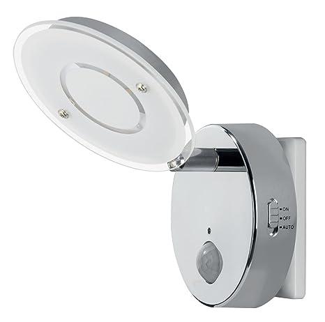 Trango Luz nocturna LED con función automático directamente 230 V con sensor de movimiento TG2636