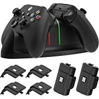 Charger Stand for Xbox Series X/S,for Xbox-one/S/X/Elite Controller,MENEEA Fast Dual Charging LED Indicator Dock Station…
