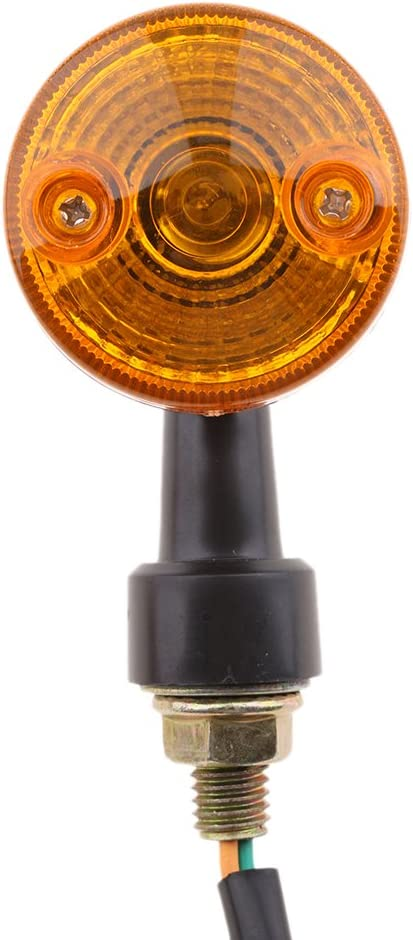 Sharplace 1/Coppia rotonda spia Indicatore di direzione Spia universale per motociclo Parti di ricambio