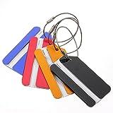 SODIAL (R) 5 pezzi di metallo Holiday Travel Bagaglio Valigia ID Tag bagagli fibbia Address Label Holder - colore casuale