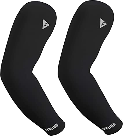 3 Pairs Driving Basketball Cycling Golf Sun Protection Cooling Arm Sleeves,Compression Sleeve for Men /& Women Running