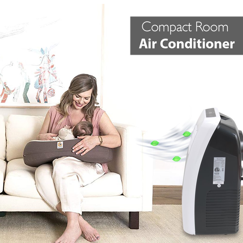 SereneLife 8,000 BTU Portable Air Conditioner, 3-in-1 ...