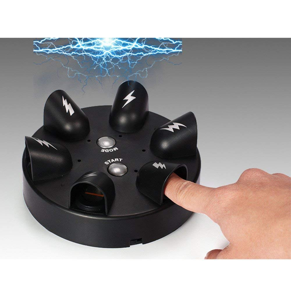 Ireav Shock Electric Lucky Finger Game Machine Random Shocking Roulette Punishment Props Funny Bar Party Drinking Toy (6 Fingers)