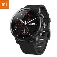 EdwayBuy Xiaomi Amazfit Stratos 2 Smartwatch Reloj Inteligente Deportivo con GPS Bluetooth Pantalla Táctil Monitor de Ritmo Cardíaco 5ATM Impermeable Versión en Inglés Negro
