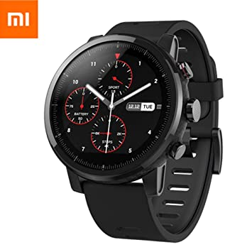 EdwayBuy Xiaomi Amazfit Stratos 2 Smartwatch Reloj Inteligente Deportivo con GPS Bluetooth Pantalla Táctil Monitor de Ritmo Cardíaco 5ATM Impermeable ...