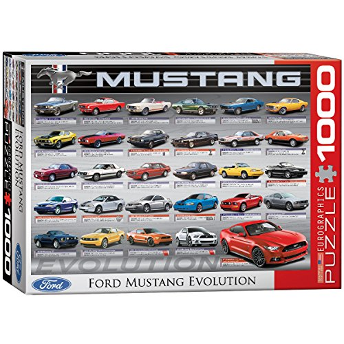 EuroGraphics Ford Mustang Evolution 50th Anniversary Puzzle (1000-Piece)