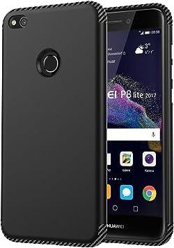 ARRYNN Funda Huawei P8 Lite 2017, Choque Absorción Protector Delgado Robusto y Acorazado de Doble Capa [Anti-rasguños] Cover para Huawei P8 Lite 2017 (2017)(Negro): Amazon.es: Electrónica