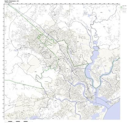North Charleston Zip Code Map.Amazon Com North Charleston Sc Zip Code Map Laminated Home Kitchen
