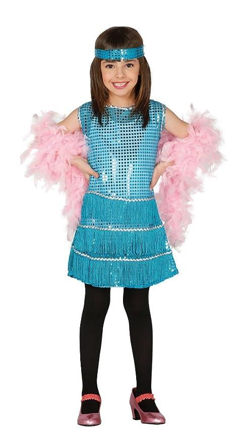 Guirca - Disfraz Charleston, talla 10-12 años, color azul (81553 ...
