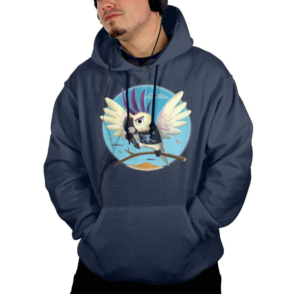 Aiguan Singing Parrot Mens Hoodie Sweatshirt with Pocket