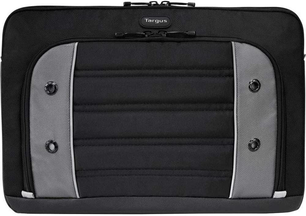Targus Drifter Laptop Sleeve Protective Water-Resistant Case with Accessory Pouch Pocket to fit up to 15.6-Inch Laptop/Notebook, Black/Gray (TSS875)