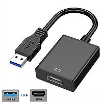 USB naar HDMI-adapter, USB 3.0 naar HDMI adapter 1081P Full HD Video Audio Multi Monitor Converter Adapter voor PC…