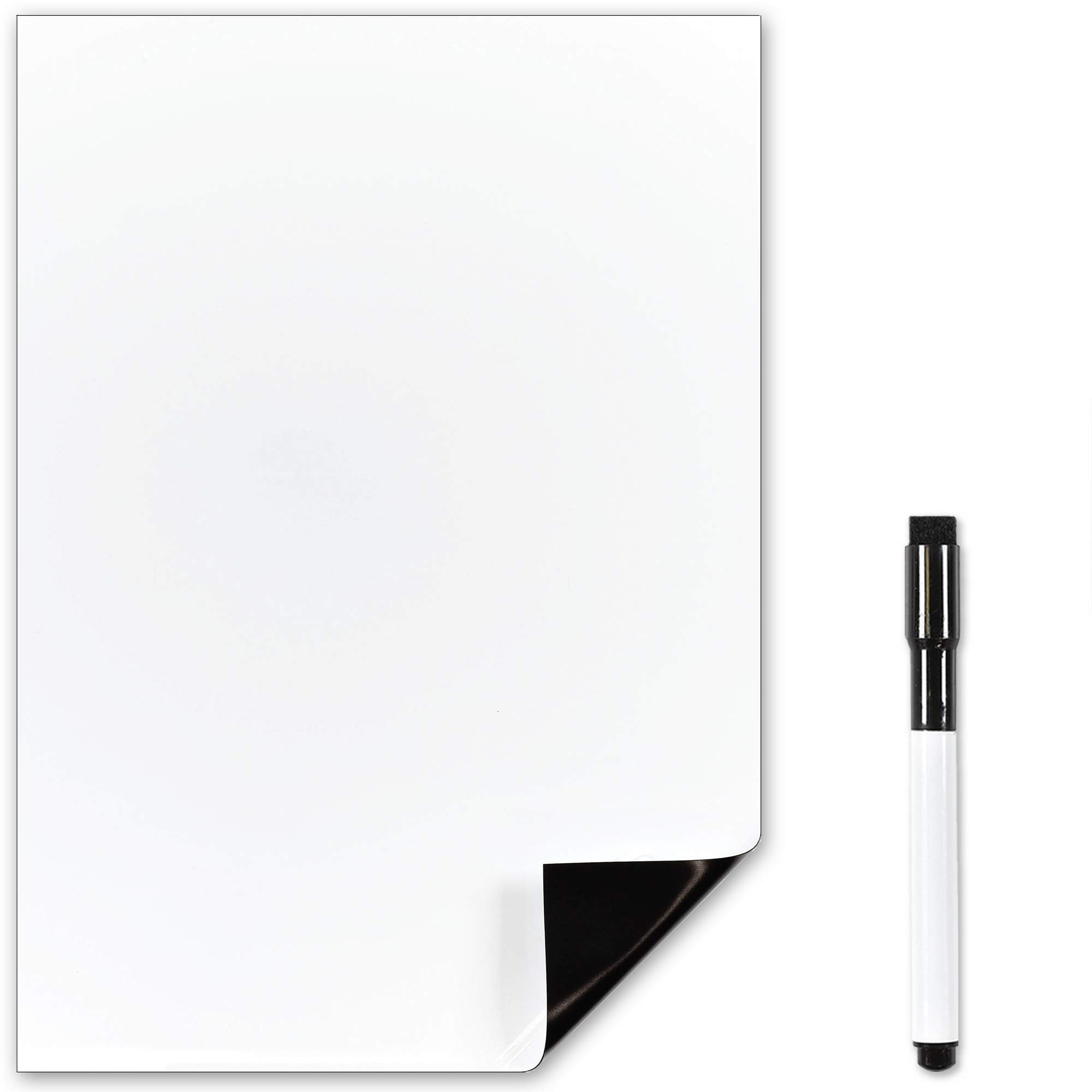 The Magnet Shop Magnetic Whiteboard - For Memos, Notes and Meal Planning in Your Home, Office and Kitchen - A4