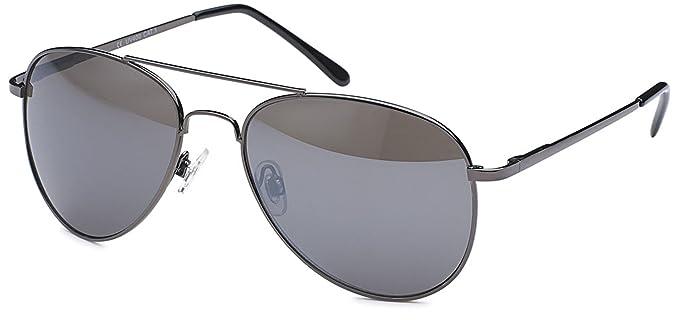 Kleine ovale Herren Sonnenbrille Edelstahl-Sonnenbrille UV400 Filter- Im Set mit Etui (anthrazitfarben) ZvGsmHnac