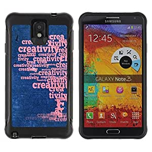 Suave TPU GEL Carcasa Funda Silicona Blando Estuche Caso de protección (para) Samsung Note 3 / CECELL Phone case / / Word Art Creative Creativity Tree /