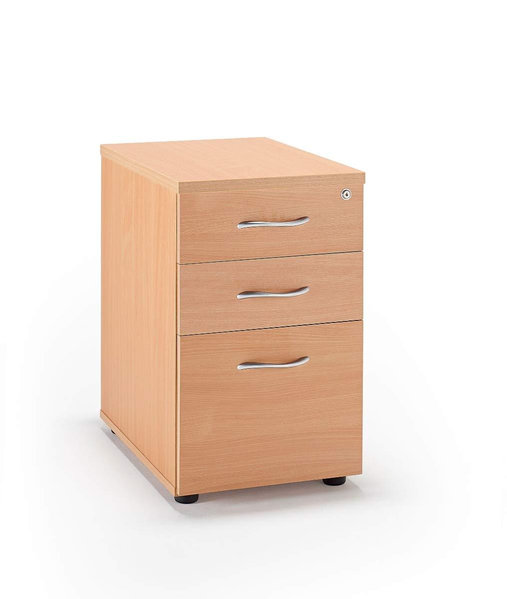 National Office Furniture Supplies Beech Desk High Pedestals