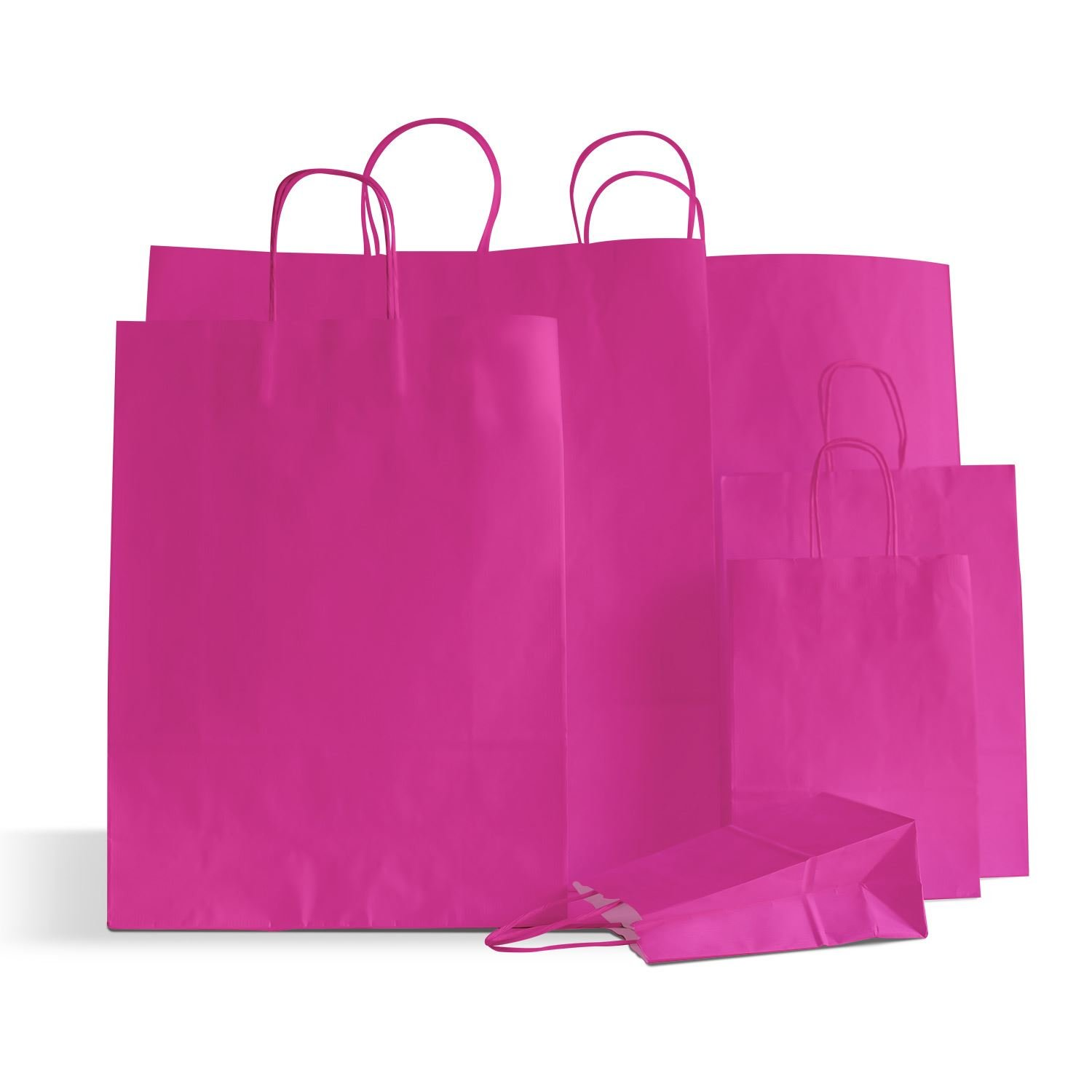 10 x Shocking Pink Party Paper Bags Twisted Handles 15x20x8cm Birthday Loot Gift Bags Carrier Bags Online