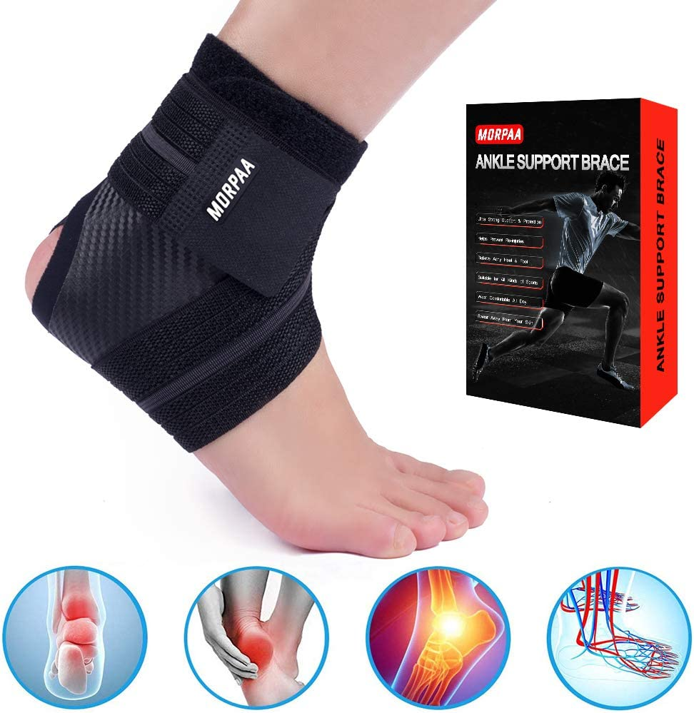 1 Pair Ankle Brace Strong Compression Ankle Support Wrap für Sports Protect, Ankle Sprain, Plantar Fasciitis, Recovery Comfortable für Wear alle Tag M