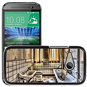 Hot Style Cell Phone PC Hard Case Cover // M00171257 Bath Bathroom Hdr Monastery Expired // HTC One Mini 2 / M8 MINI / (Not Fits M8)