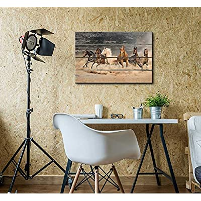 Rustic Team Gallop - Canvas Art