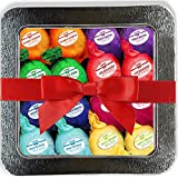 #3: Bath Bombs Gift Set 16 Organic Bubble Bath Handmade Shea Butter Dry Skin Moisturize Spa Bubble Bath Birthday Gift idea For Her Him Natural Essential Oils Lush gift baskets Spa Fizzies Bath Pearls Bead