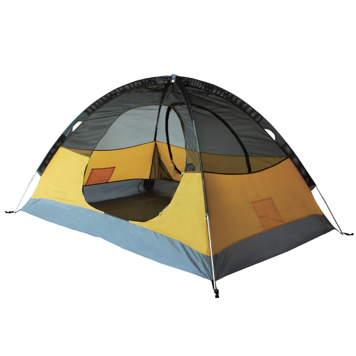 KingCamp Double Layer 2 Person Portable Water Resistant 5000mm Backpacking Tent (Orange)
